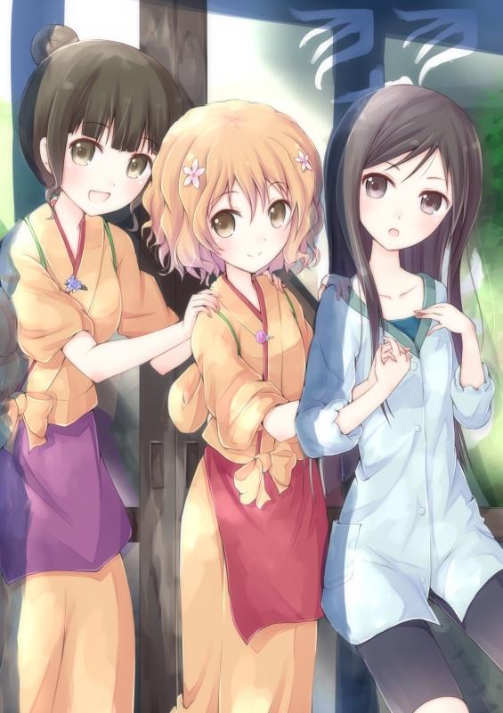 Tags: Anime, Mirai (Macharge), Hanasaku Iroha, Tsurugi Minko, Oshimizu Nako, Matsumae Ohana, The Colors Of The Blooming