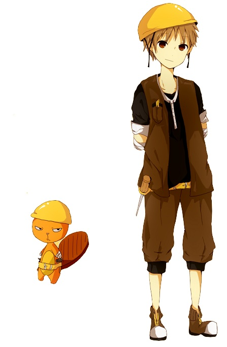 Tags: Anime, Saiban In Seido, Happy Tree Friends, Handy, Beaver, Mobile Wallpaper, Pixiv, Fanart