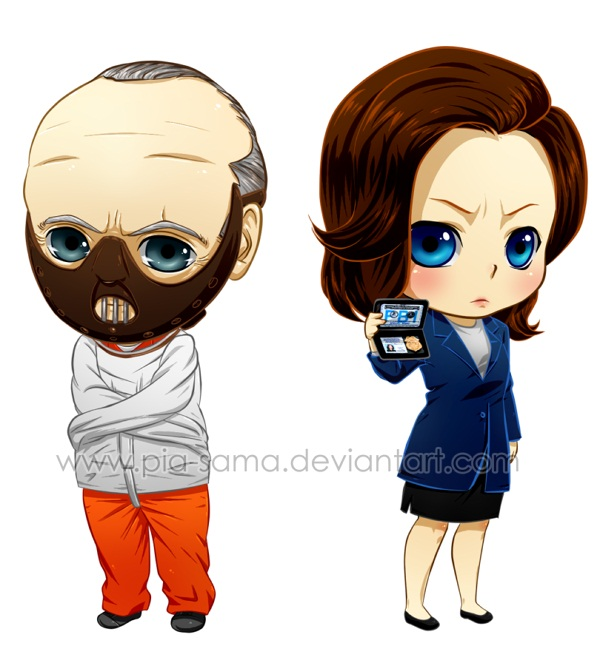 Tags: Anime, Hannibal (TV Series), Dr. Hannibal Lecter, Clarice Starling, Straightjacket