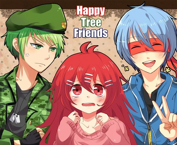 Tags: Anime, Pixiv Id 1607426, Happy Tree Friends, Flippy, Flaky, Splendid (HTF), Superhero