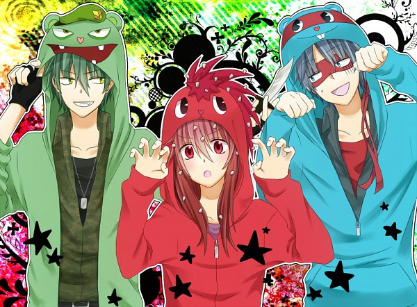 Tags: Anime, Uniikura, Happy Tree Friends, Flippy, Flaky, Splendid (HTF), Dagger