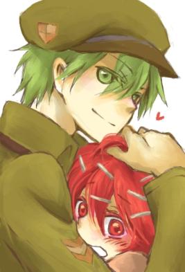 Tags: Anime, *Mihaya, Happy Tree Friends, Flippy, Flaky, Mobile Wallpaper, Pixiv, Fanart