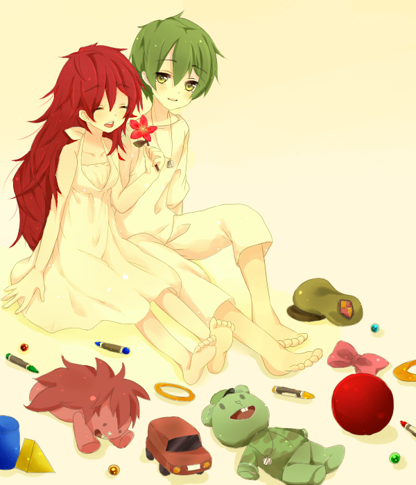Tags: Anime, Pixiv Id 2300764, Happy Tree Friends, Flaky, Flippy, Crayon, Fanart, Fanart From Pixiv, PNG Conversion, Pixiv