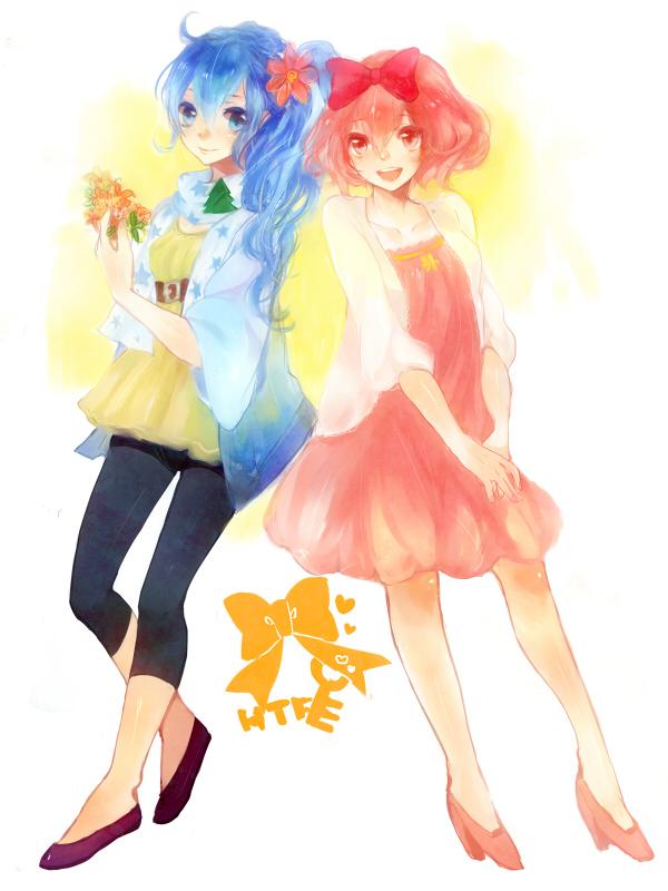 Tags: Anime, Asuda (Pixiv468135), Happy Tree Friends, Petunia (HTF), Cuddles (HTF), Giggles (HTF), Pixiv, Fanart