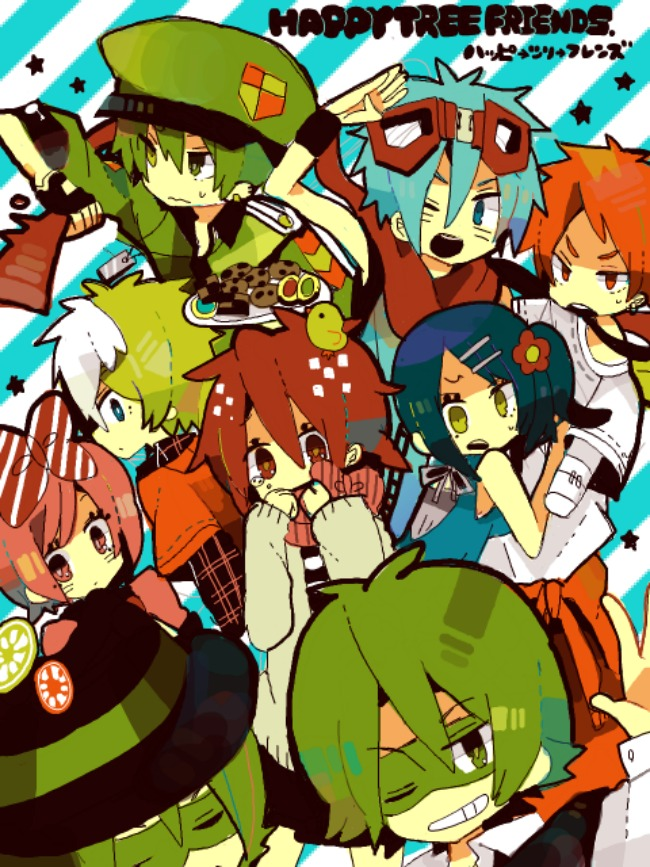 Tags: Anime, Happy Tree Friends, Splendid (HTF), Petunia (HTF), Cuddles (HTF), Giggles (HTF), Shifty, Flippy, Lifty, Flaky, Handy, Fanart