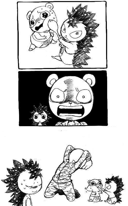 Tags: Anime, Chama (Pixiv 1266098), Happy Tree Friends, Flippy, Flaky, Mobile Wallpaper, Comic