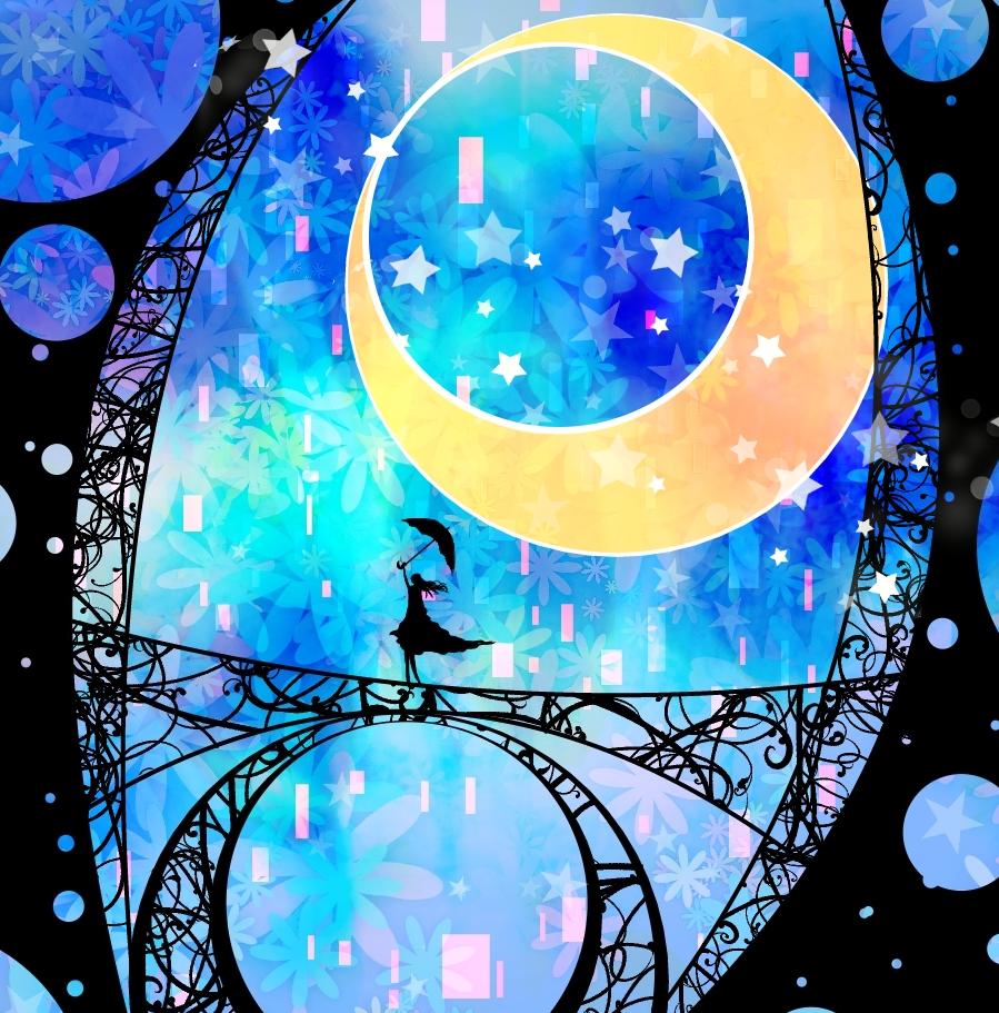 Картинки луна абстракция