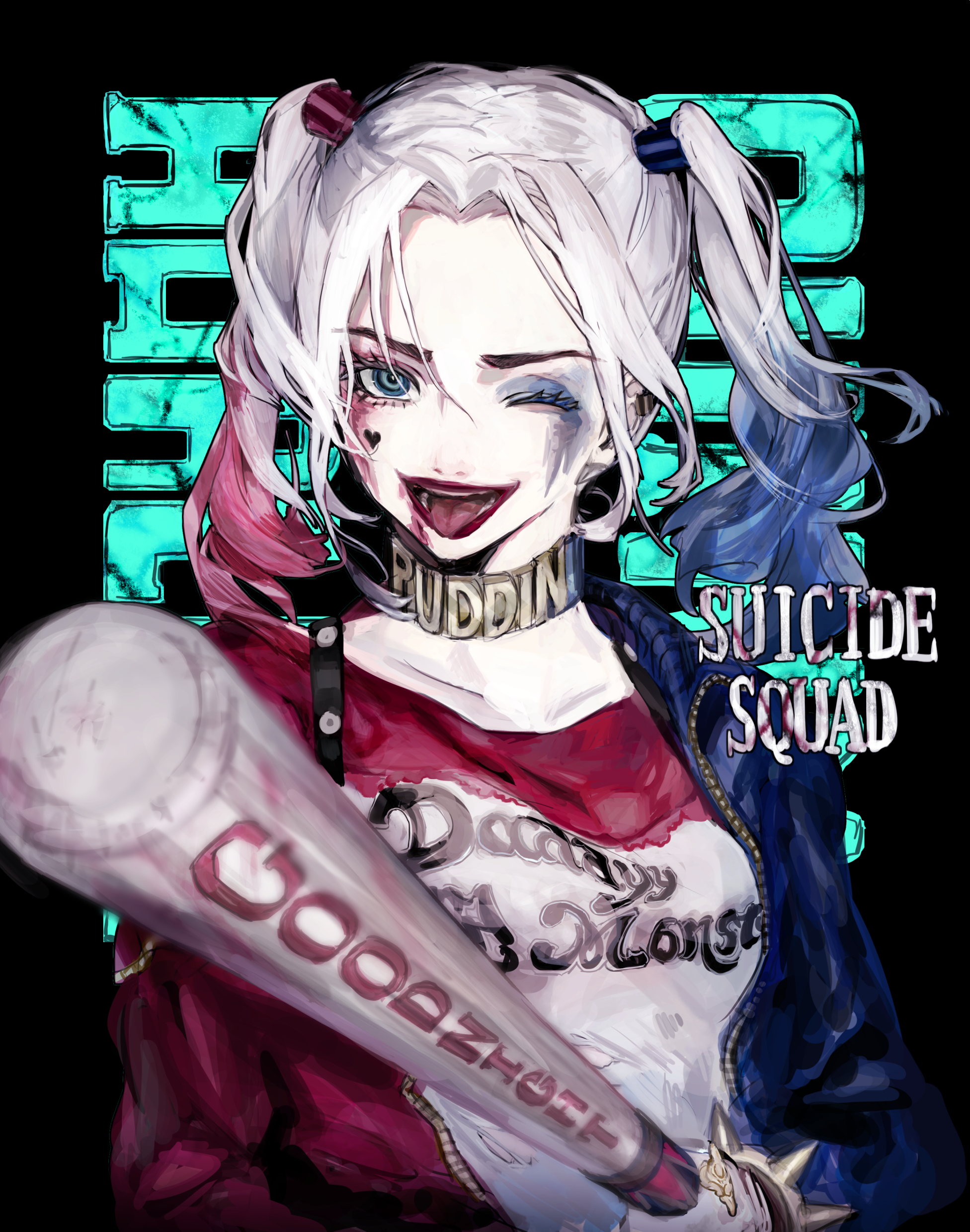 harley quinn suicide squad suicide squad zerochan anime image board. Black Bedroom Furniture Sets. Home Design Ideas