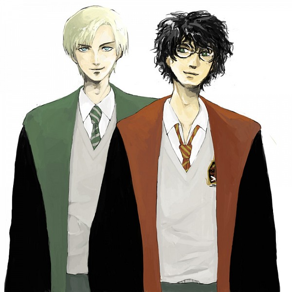 Tags: Anime, Pixiv Id 1278590, Harry Potter, Draco Malfoy, Harry Potter (Character), Slytherin House, Gryffindor House