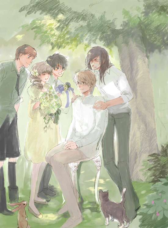 Tags: Anime, Chirokko, Harry Potter, Sirius Black, Ron Weasley, Harry Potter (Character), Hermione Granger, Remus Lupin, Fanart