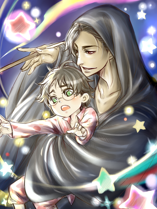 Tags: Anime, Pixiv Id 4516145, Harry Potter, Harry Potter (Character), Tom Marvolo Riddle, Age Difference, Pixiv, Fanart From Pixiv, Fanart
