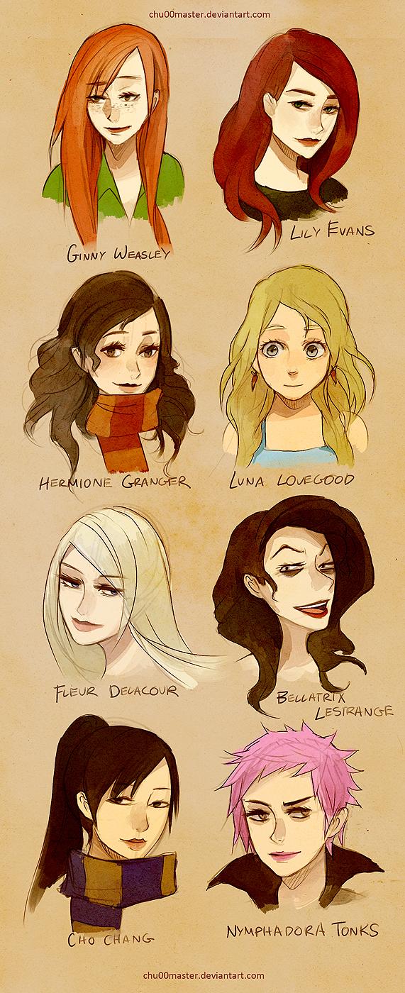 'Harry Potter': Reunión sorpresa entre Ginny Weasley, Cho ...  |Luna Lovegood And Cho Chang