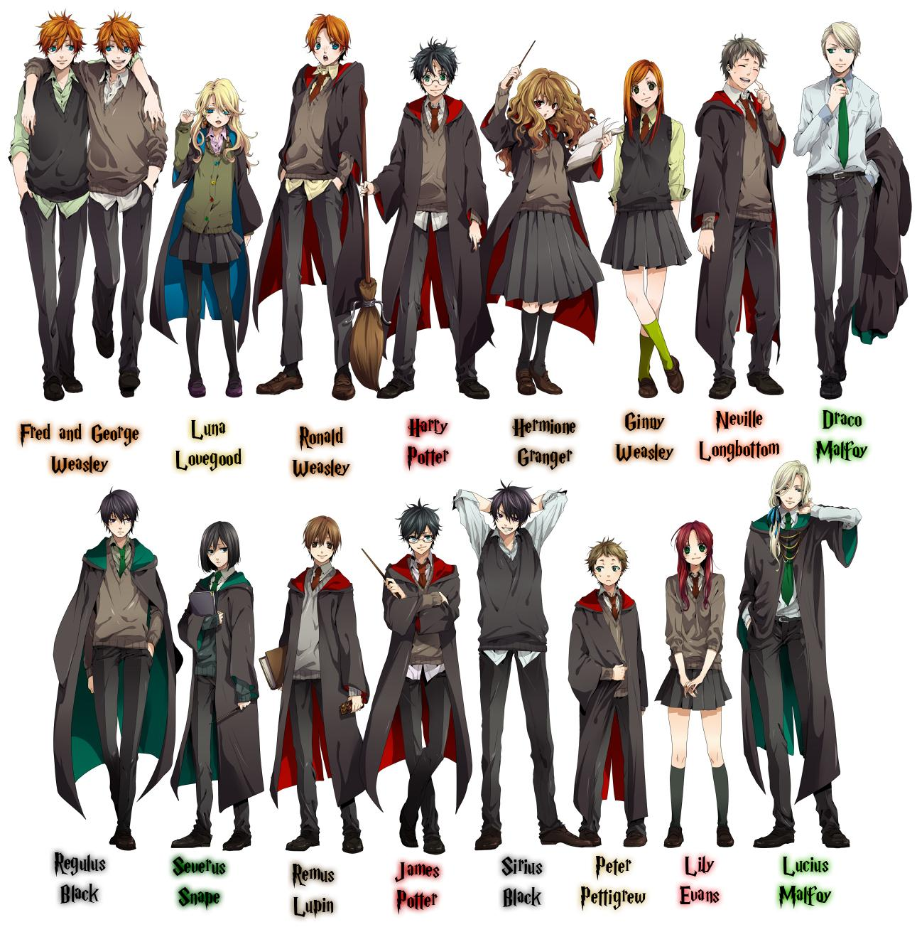 Harry Potter Anime Draco Tags Anime Harry Potter