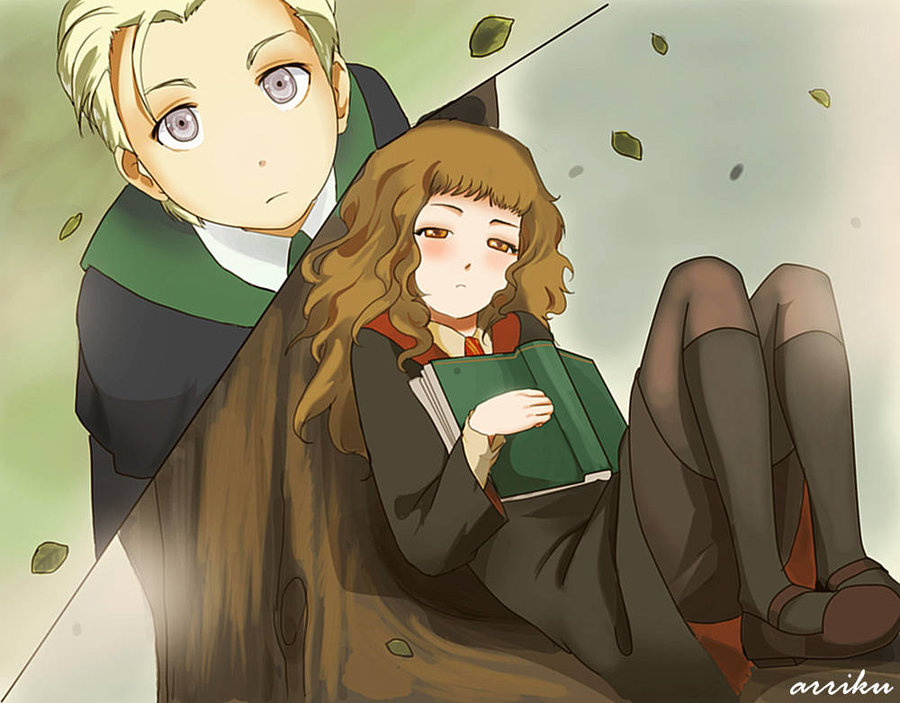 View Fullsize Harry Potter Harry Potter Draco And Hermione Anime