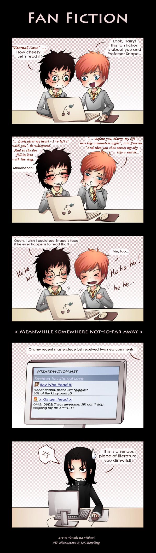 Tags: Anime, Tenshi-no-hikari, Harry Potter, Severus Snape, Ron Weasley, Harry Potter (Character), Comic, deviantART, Gryffindor House