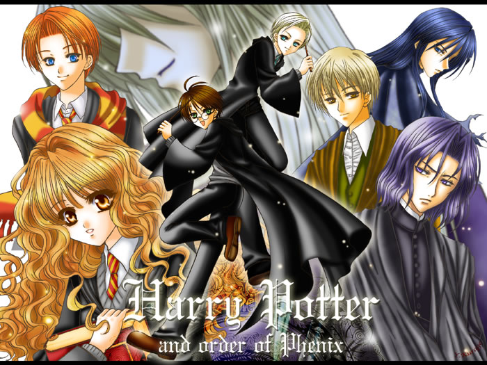 Tags Anime  Harry Potter  Harry Potter Draco And Hermione Anime