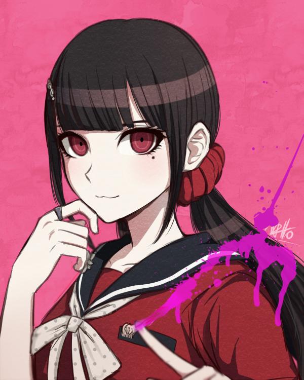 Tags: Anime, Nattouh, New Danganronpa V3, Harukawa Maki, PNG Conversion
