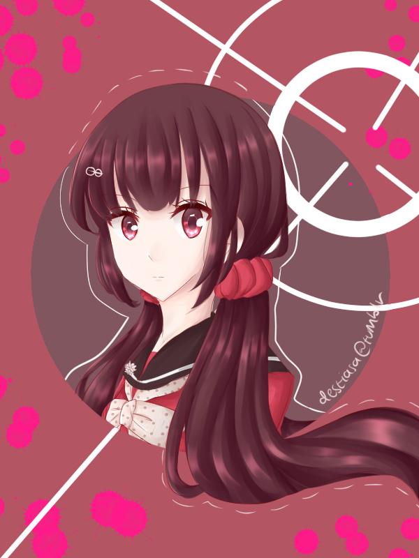 Tags: Anime, Pixiv Id 12519477, New Danganronpa V3, Harukawa Maki, PNG Conversion