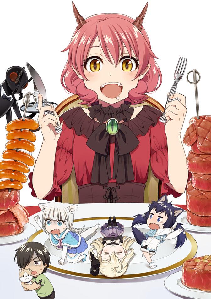 Tags: Anime, Mattaku Mosuke, Hataage! Kemono Michi, Shigure (Hataage! Kemono Michi), Hiroyuki (Hataage! Kemono Michi), Shibata Genzou, Camilla (Hataage! Kemono Michi), Hanako (Hataage! Kemono Michi), Character Request, Official Art