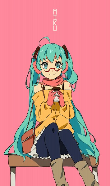 Tags: Anime, Hatsune Miku, Drinks, Vocaloid, Coffee, Pink Background, Zhuxiao517