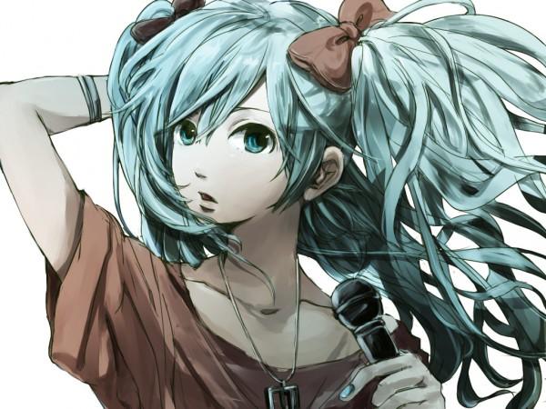 Tags: Anime, Pixiv Id 1592119, VOCALOID, Hatsune Miku, Close Up, Singing