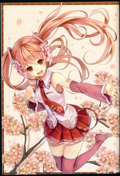 Tags: Anime, Paseri, VOCALOID, Hatsune Miku, Thigh Boots, Alternate Color, Pink Footwear