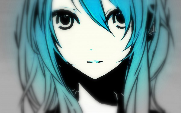 Tags: Anime, VOCALOID, Hatsune Miku, Close Up, Bangs