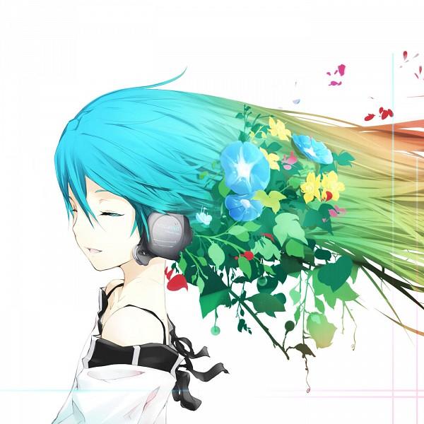 Tags: Anime, Irena, VOCALOID, Hatsune Miku, Blue Flower, Morning Glory