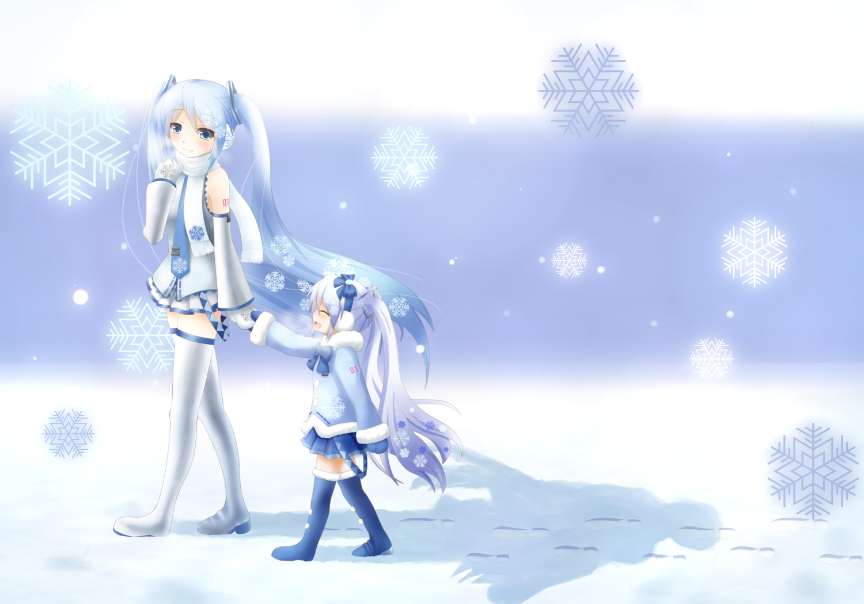 Картинки снежная мику