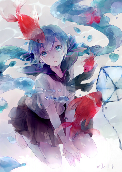 Tags: Anime, Haiko (Pixiv2170013), VOCALOID, Hatsune Miku, Mobile Wallpaper, Bottle Design, Fanart, Fanart From Pixiv, Pixiv