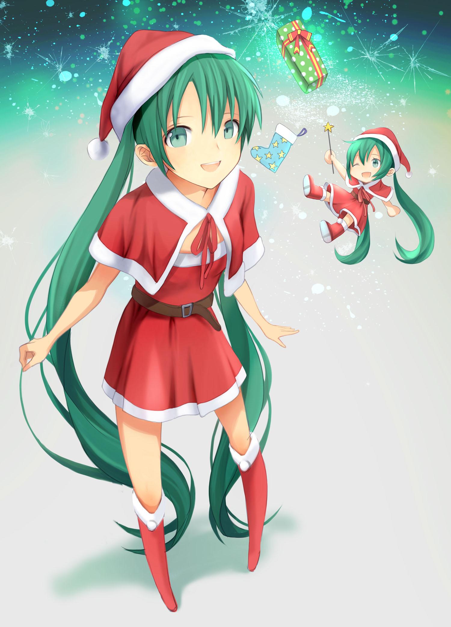 Hatsune Miku Christmas Outfit.Christmas Hat Christmas Outfit Page 46 Zerochan Anime