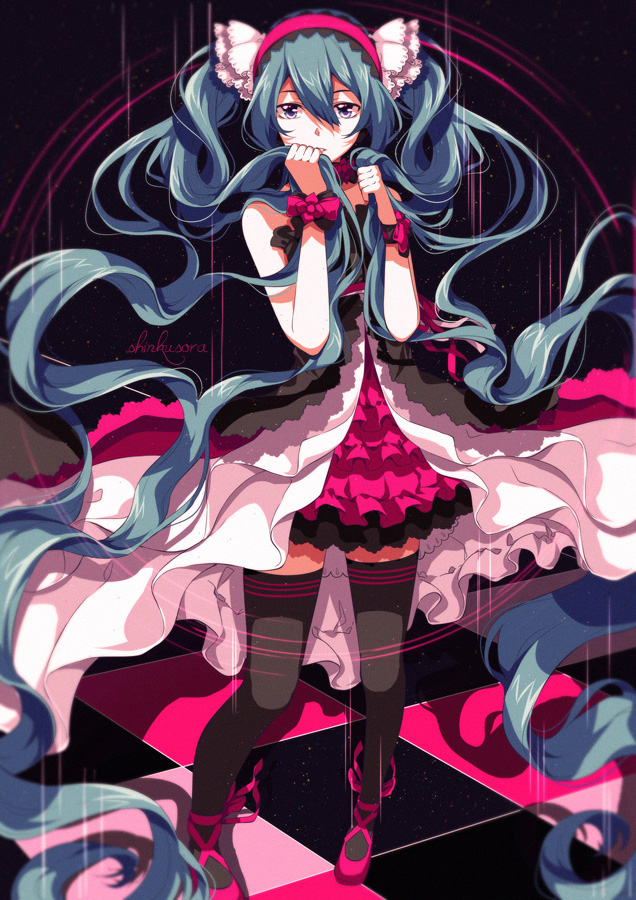 Tags: Anime, Shinkusora, 7th Dragon 2020, VOCALOID, Hatsune Miku, Laced Shoes, Pixiv, Fanart From DeviantART, Mobile Wallpaper, Type 2021, Fanart From Pixiv, Fanart, deviantART