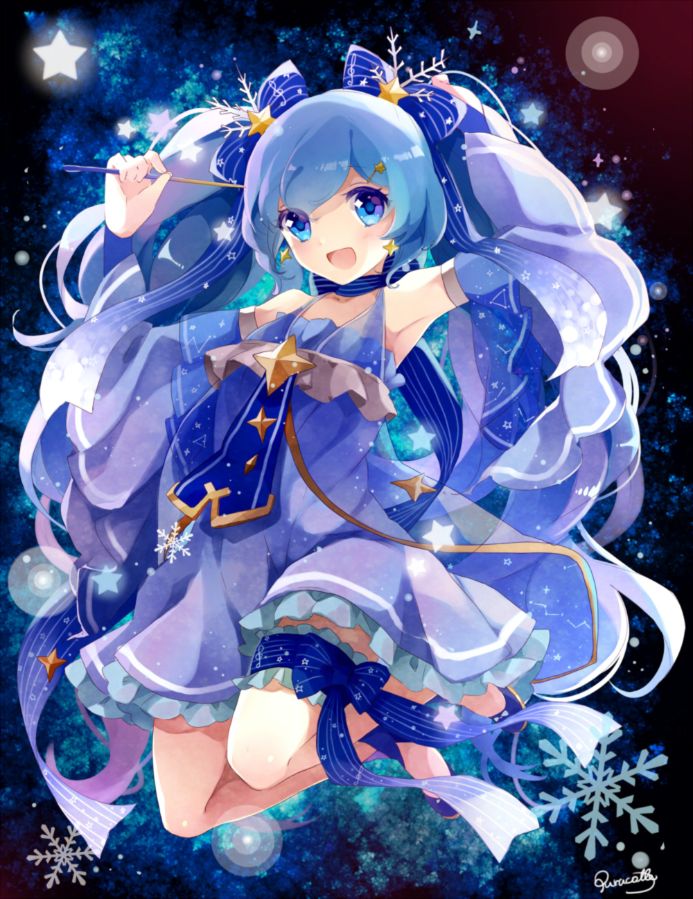 Dark purple and blue hair