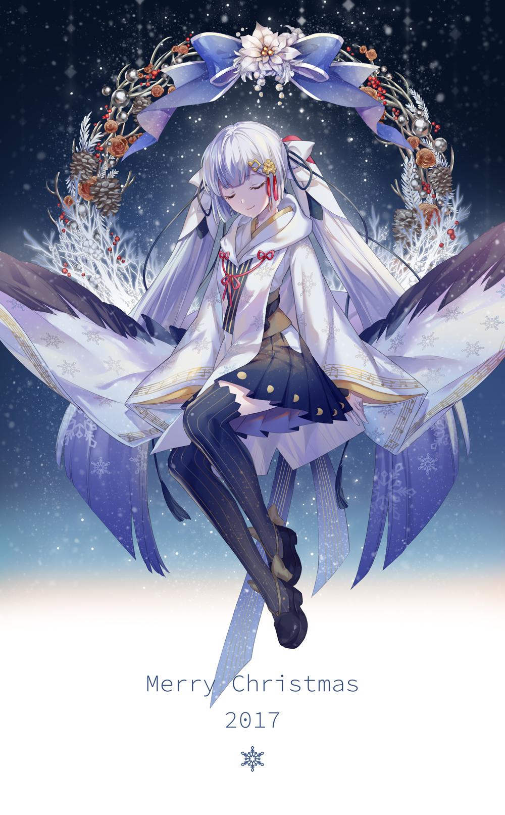 Hatsune Miku Christmas 2018.Hatsune Miku Vocaloid Image 2239263 Zerochan Anime