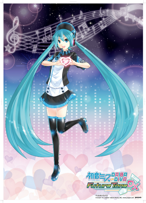Tags: Anime, KEI (Pixiv4088), Project DIVA Future Tone DX, VOCALOID, Hatsune Miku, Jagged, Official Art