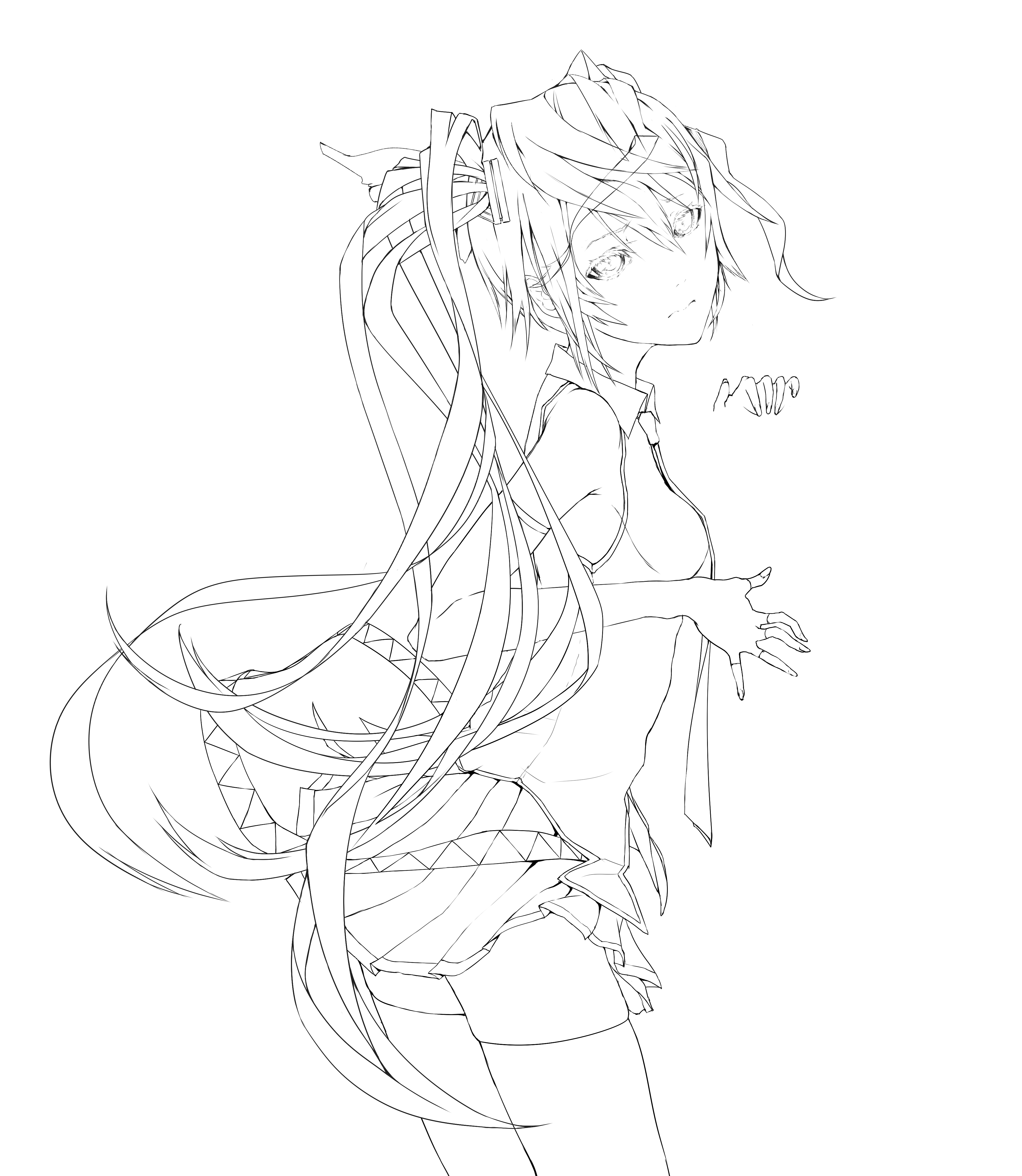 Zerochan Lineart : Hatsune miku  zerochan