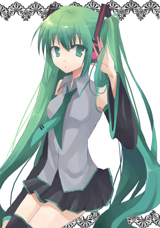 Tags: Anime, Dandelion (Artist), VOCALOID, Hatsune Miku, Pixiv