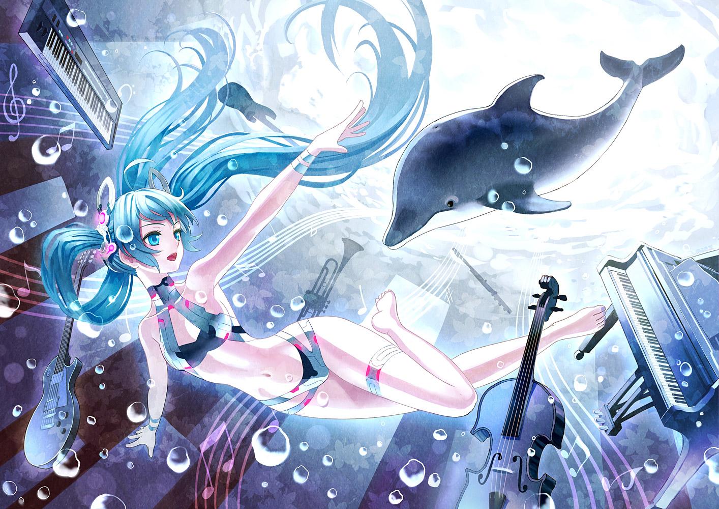 Дельфины картинки аниме