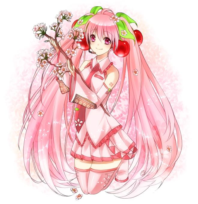 Tags: Anime, Irohasu, VOCALOID, Hatsune Miku, Sakura Design