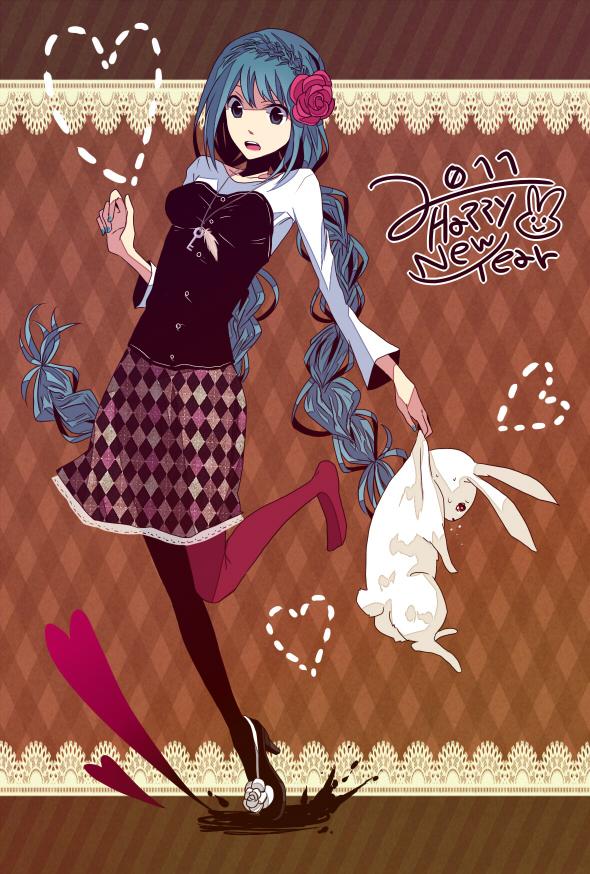 Tags: Anime, Non 00, VOCALOID, Hatsune Miku, Mobile Wallpaper, Pixiv