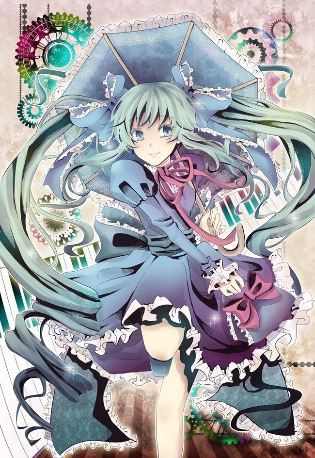 Tags: Anime, Pixiv Id 2192852, VOCALOID, Hatsune Miku, Piano Keys