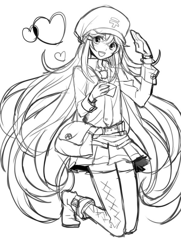 Раскраска для девочек аниме - 6