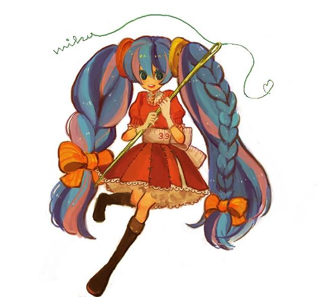 Tags: Anime, Pixiv Id 265099, VOCALOID, Hatsune Miku, Sewing, Fanart, Pixiv