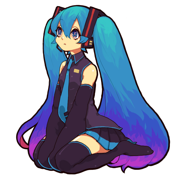 Tags: Anime, ROCB, VOCALOID, Hatsune Miku, Observing, Seiza, Shoeless