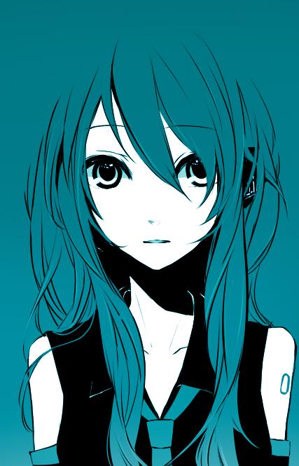 Tags: Anime, Hakoda Eko, VOCALOID, Hatsune Miku, Aqua, Fanart, Pixiv, Mobile Wallpaper