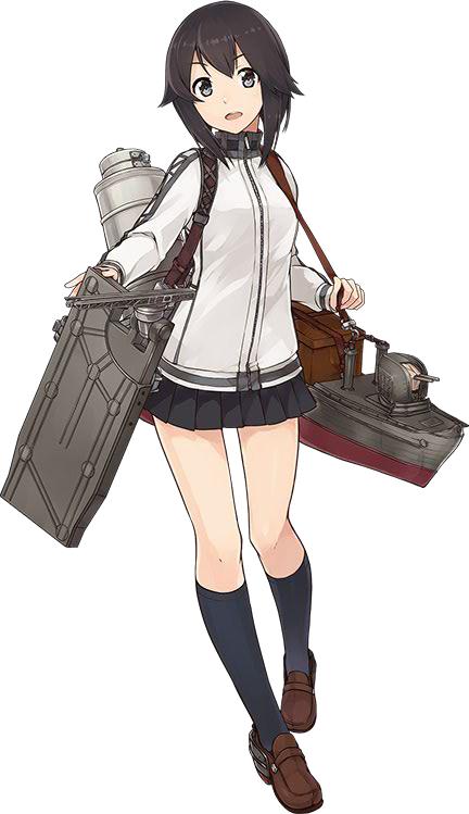 Tags: Anime, Konishi (Koconatu), Kadokawa Games, Kantai Collection, Hayasui (Kantai Collection), Cover Image, PNG Conversion, Official Art