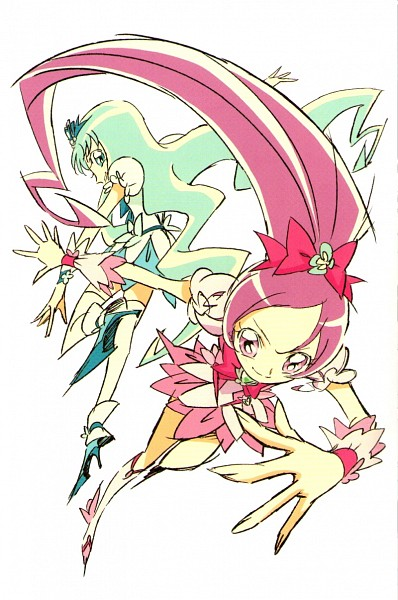 Tags: Anime, Umakoshi Yoshihiko, Toei Animation, Heartcatch Precure!, Cure Marine, Hanasaki Tsubomi, Kurumi Erika