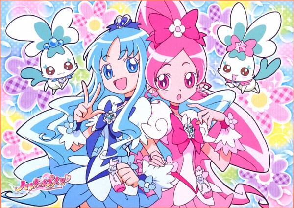 Tags: Anime, Heartcatch Precure!, Cure Marine, Shypre, Hanasaki Tsubomi, Kurumi Erika, Cure Blossom