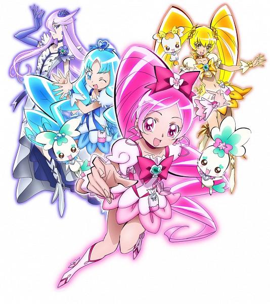 Tags: Anime, Heartcatch Precure!, Kurumi Erika, Tsukikage Yuri, Cure Moonlight, Cure Blossom, Potpourri