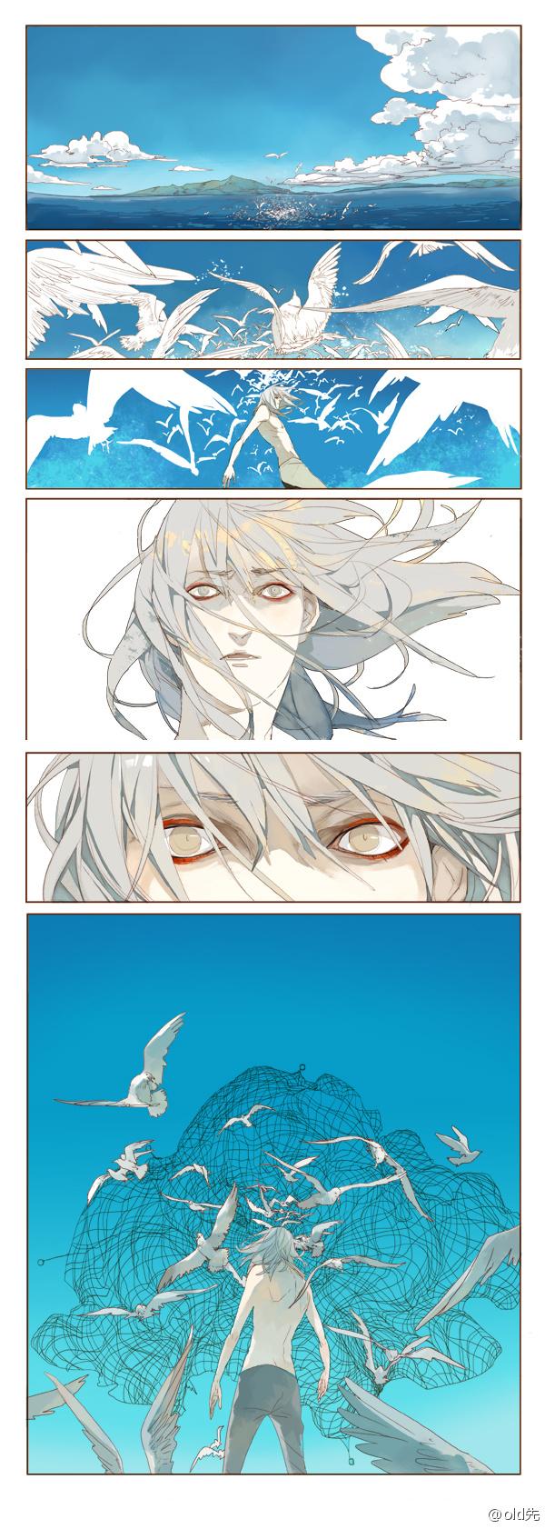 Tags: Anime, Oldxian, Heat of Love, Seagull, Island